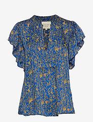 Lollys Laundry - Isabel Top - bluzki krotkim rekawem - neon blue - 0