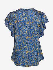 Lollys Laundry - Isabel Top - bluzki krotkim rekawem - neon blue - 1