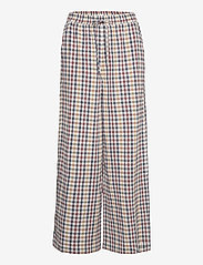 Lollys Laundry - Liam Pants - bukser med brede ben - check print - 0