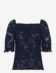 Lollys Laundry - Honey Top - blouses à manches courtes - 23 dark blue - 0