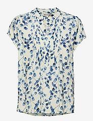 Lollys Laundry - Heather Top - kortærmede bluser - creme - 0