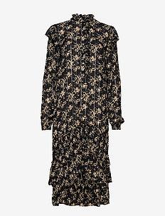 Frille Dress - BLACK