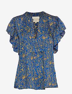 Isabel Top - kortærmede bluser - neon blue