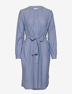 Basic Shirt Dress - skjortekjoler - dusty blue