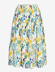 Morning Skirt - midi - flower print