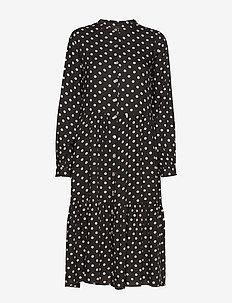 Kaia Dress - do kolan & midi sukienki - washed black