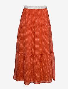 Bonny Skirt - do kolan & midi - rust