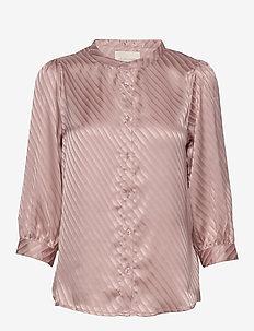 Amalie Shirt - blouses lange mouwen - nude