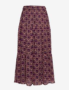 Bonny Skirt - do kolan & midi - flower print