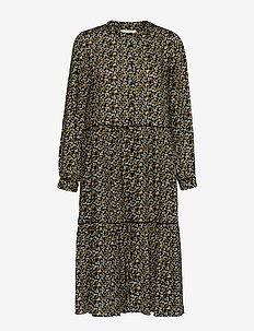 Kaia Dress - midi kjoler - flower print