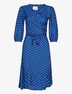 April Dress - robes portefeuille - neon blue