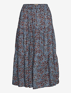 Morning Skirt - midi - flower print