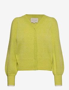 Laura Cardigan - neuletakit - neon yellow
