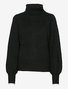 Annika Turtleneck - poolopaidat - washed black