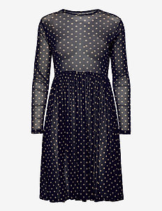Lydia Dress - midi kjoler - dot print