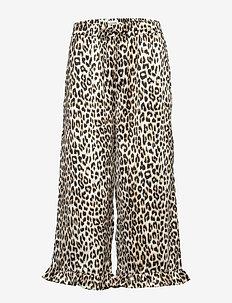 Estrid Pants - bukser med brede ben - leopard print