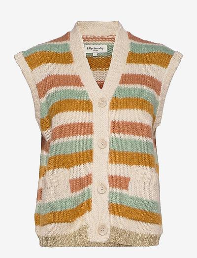 Celine Vest - knitted vests - creme