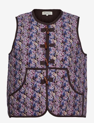 Robyn Vest - vatteret veste - 74 flower print