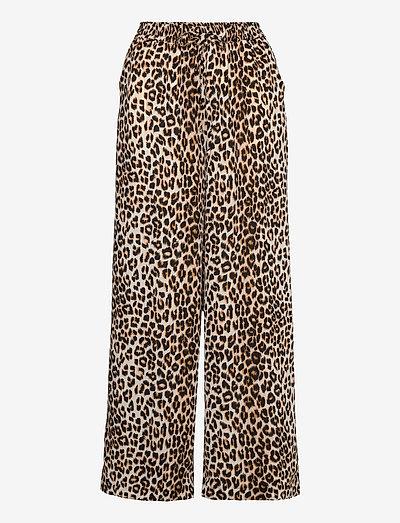 Rita Pants - bukser med brede ben - 72 leopard print
