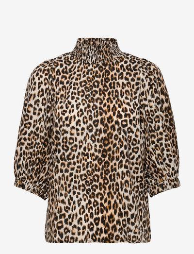 Bobby Top - langærmede bluser - 72 leopard print