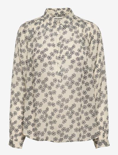 Lari Shirt - langærmede skjorter - 02 creme