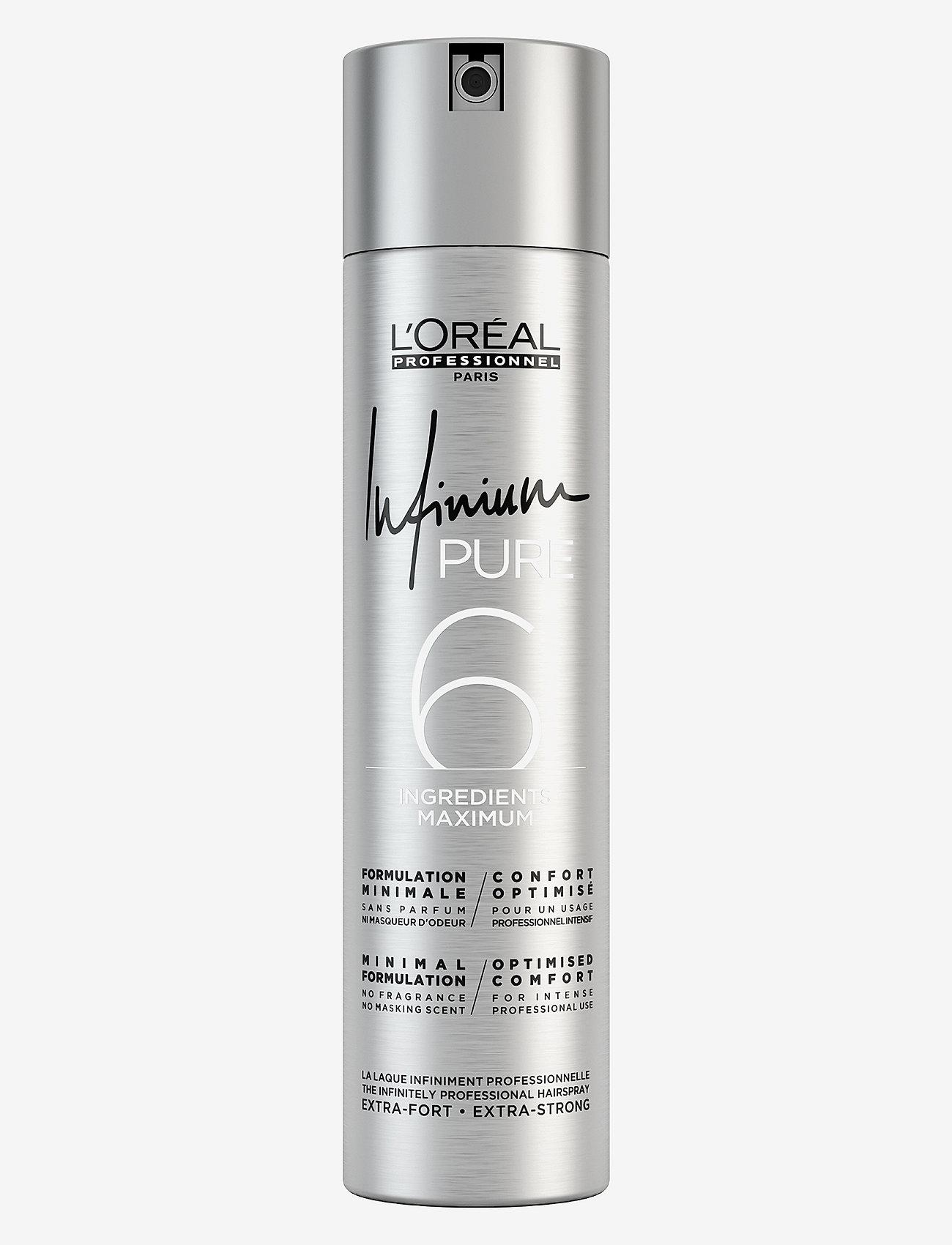 L'Oréal Professionnel - L'Oréal Professionnel Infinium Pure Extra Strong - hårspray - clear - 0
