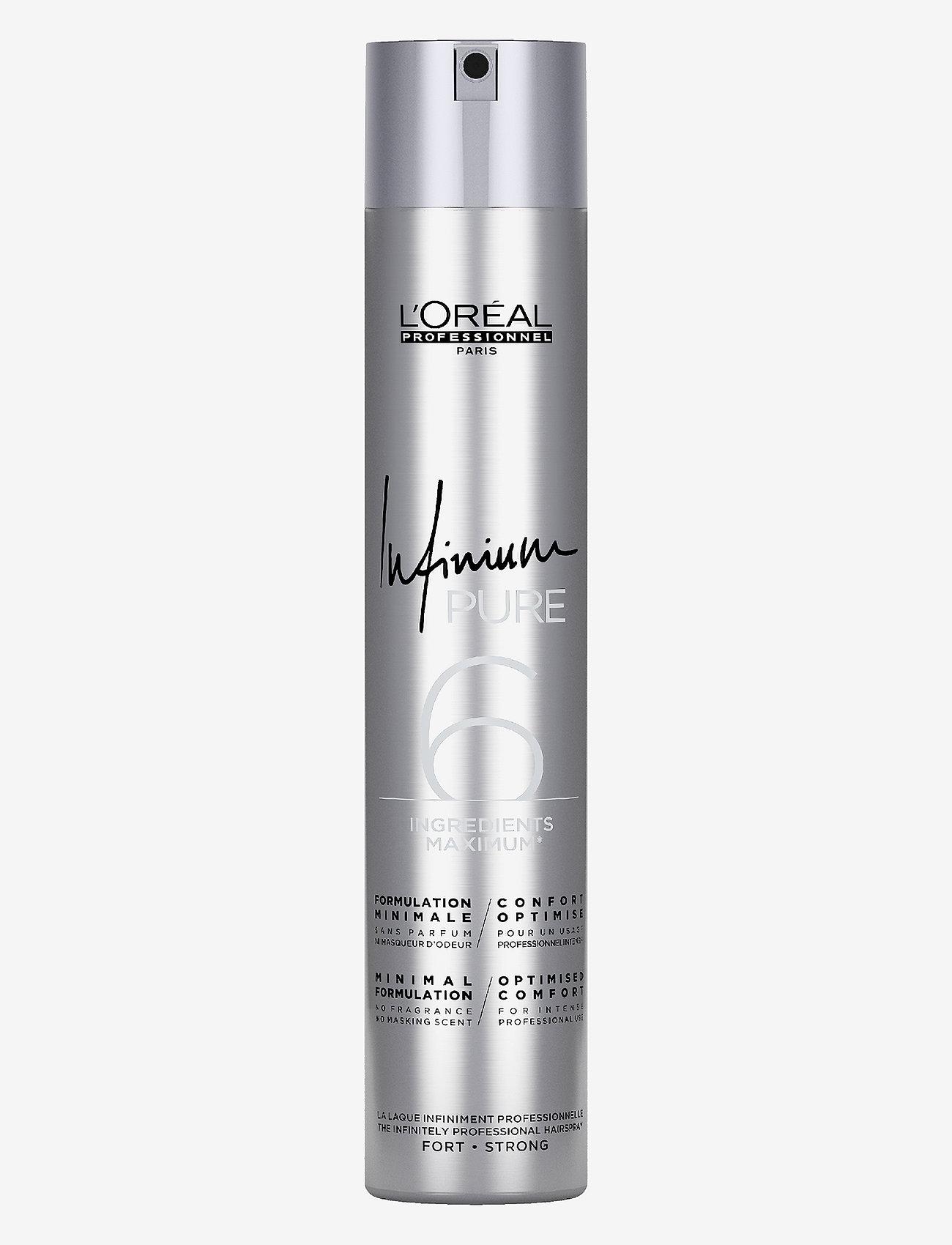 L'Oréal Professionnel - Infinium PURE Strong - hårspray - clear - 0