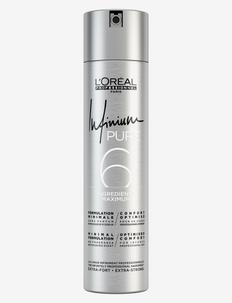 L'Oréal Professionnel Infinium Pure Extra Strong - hårspray - clear