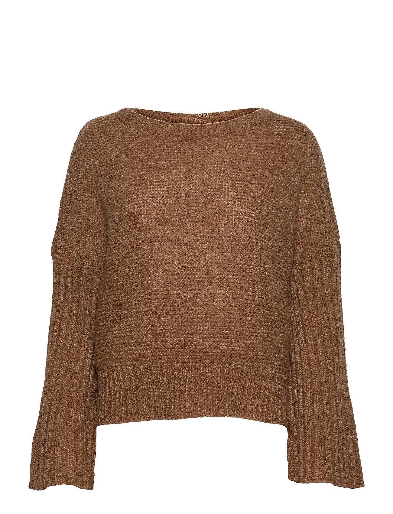 Lnbaya Knit Loose Pullover Strikket Trøje Brun Lounge Nine