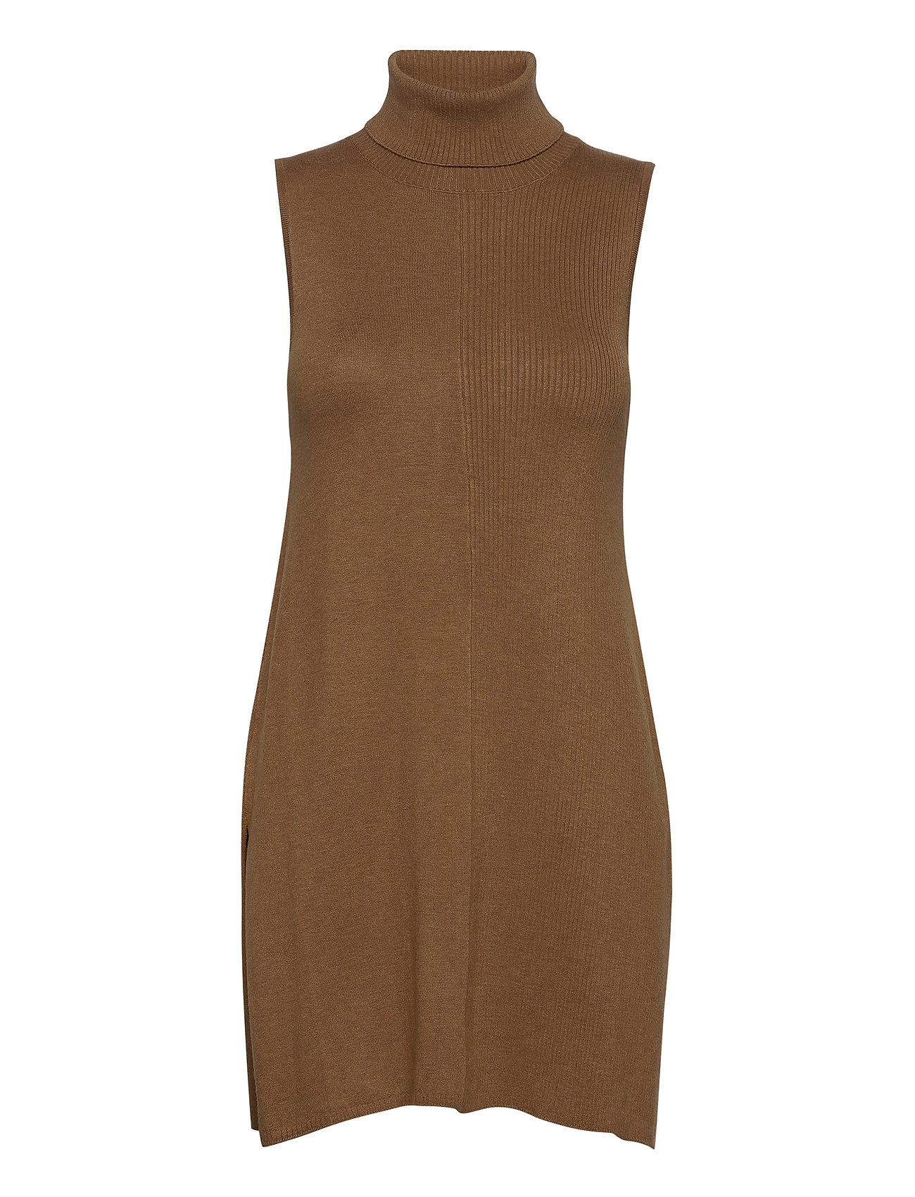 Lnnoian Knit Slipover Dresses Bodycon Dresses Brun Lounge Nine