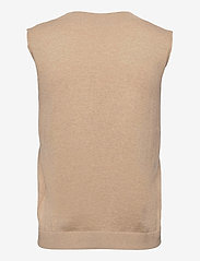 Lounge Nine - LNBallou Slipover - knitted vests - safari melange - 1