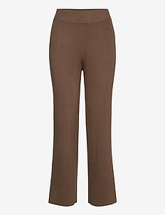 CelestinaLN Knit Pants EV - casual trousers - chocolate chip