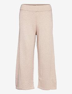 LNMallory Knit Pants - vida byxor - pastel parchment melange