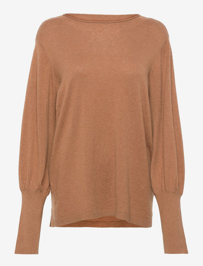 LNSage Knit Pullover - sweaters - toasted coconut melange