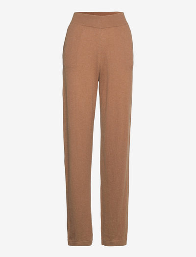 LNSage Knit Pant - straight leg trousers - toasted coconut melange