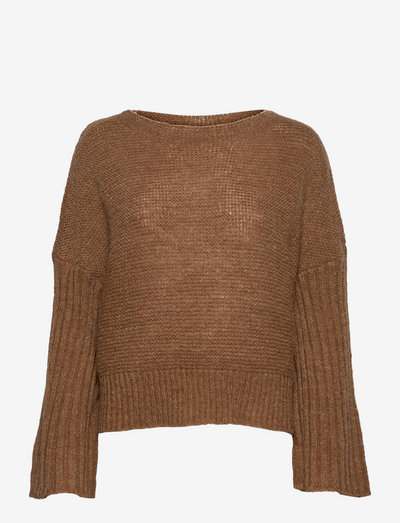 LNBaya Knit Loose Pullover - jumpers - toasted coconut