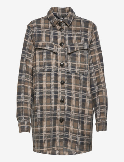 LNSilje Loose Shirt - winter jackets - stormy weather check