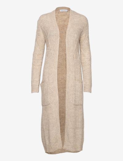 LNBaya Long Knit Cardigan - cardigans - oat melange