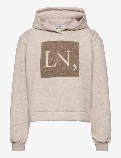 LNSabi Cropped Hoodie - sweatshirts & hoodies - oat melange