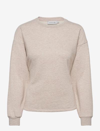 LNSabi Tieband Sweatshirt - sweatshirts & hoodies - oat melange