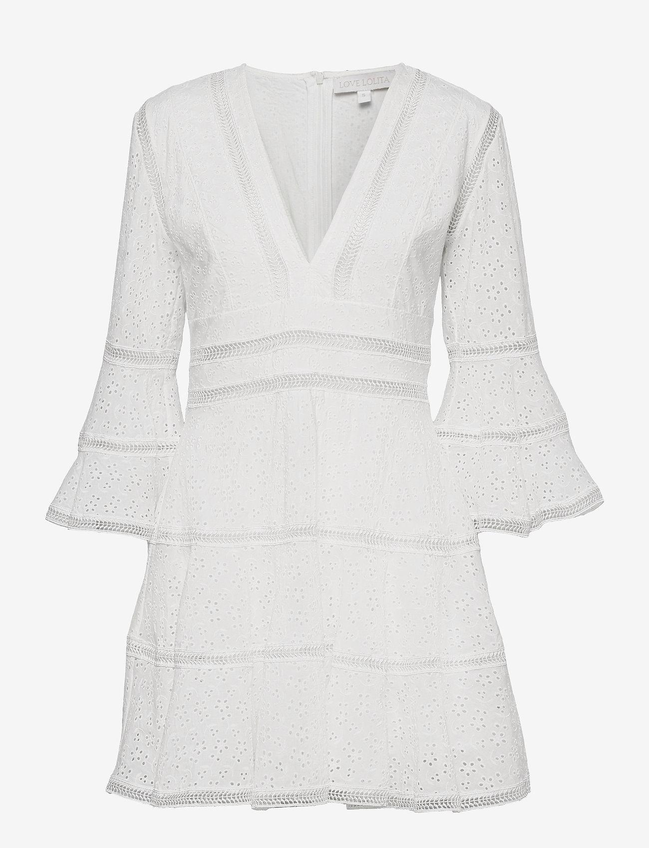 Love Lolita - Millie Dress - sommerkjoler - white - 0