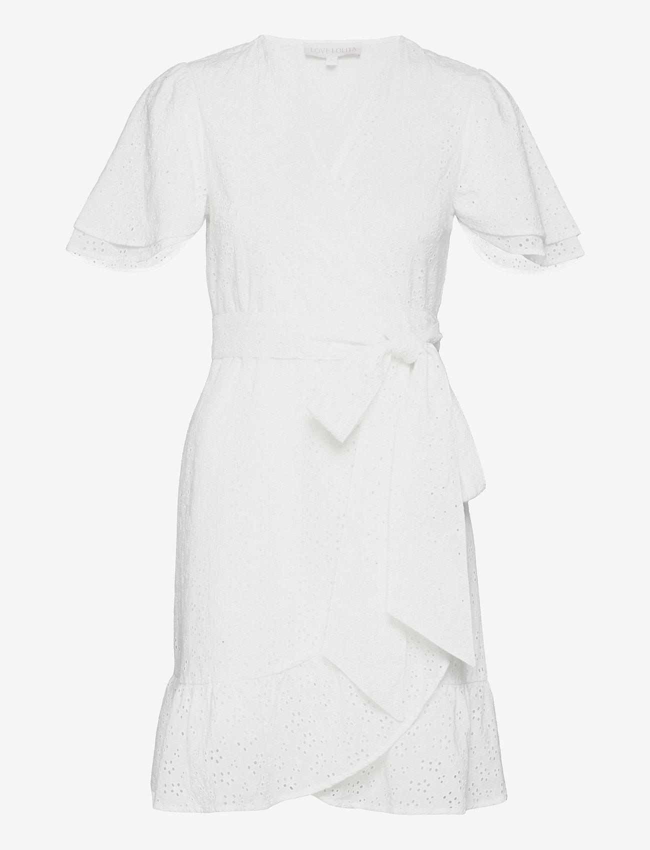 Love Lolita - Gabriella Mini Dress - sommerkjoler - white - 0