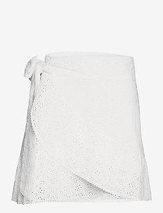 Valerie Skirt - omlottkjolar - white