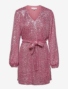 Harley Dress - festkjoler - pink sequin