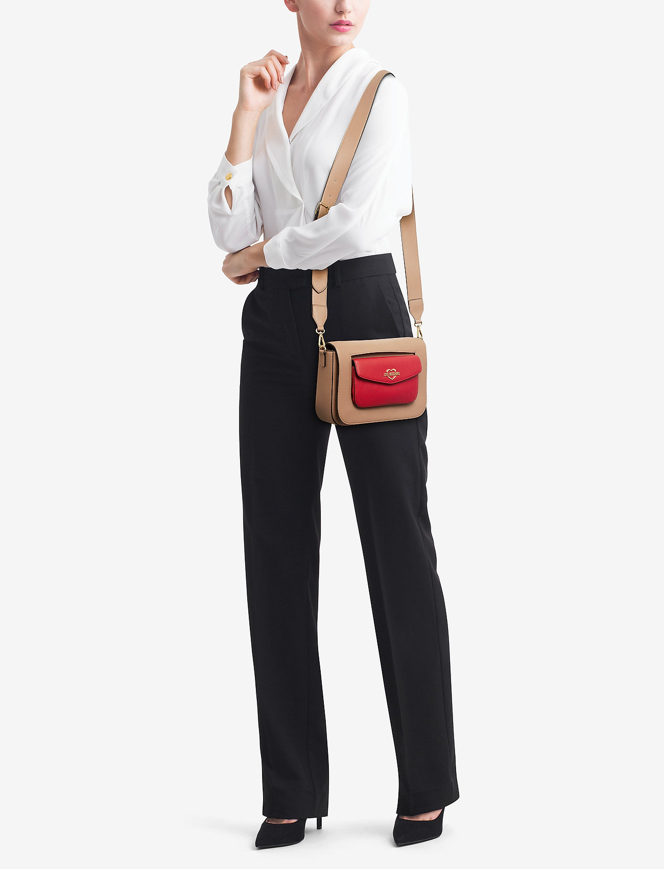 Love Moschino Bags DOUBLE EASY POCKET - RED