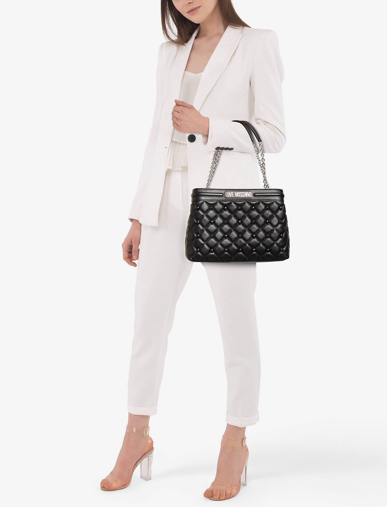 Love Moschino Bags QUILTED LOVE MOSCHINO BAGS - BLACK