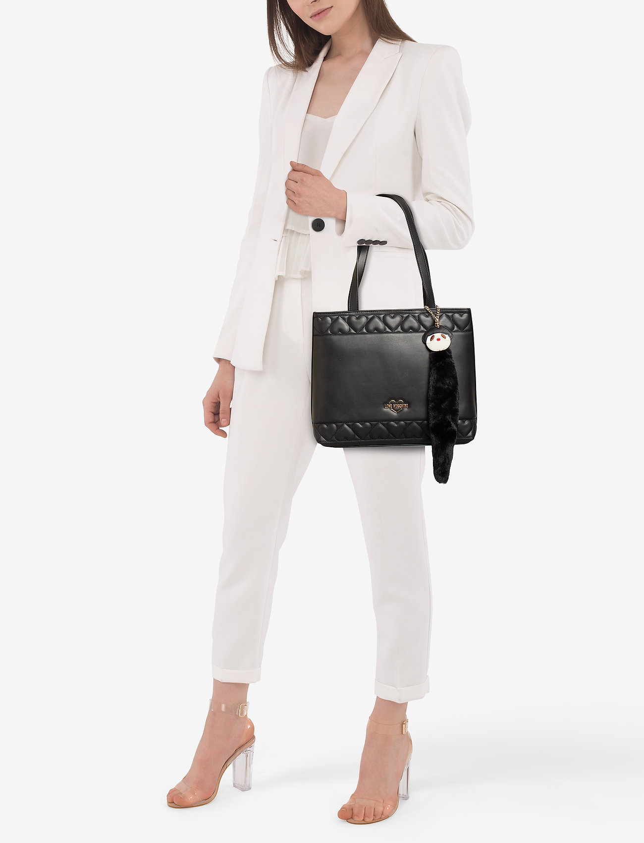 Love Moschino Bags FUR DOLLS CHAIN - BLACK