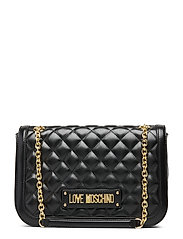 NEW SHINY QUILTED - BLACK