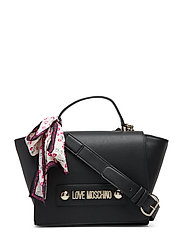 Lettering Love Moschino Bags Top Handle Bags Svart LOVE MOSCHINO BAGS