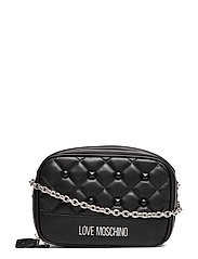QUILTED LOVE MOSCHINO BAGS - BLACK